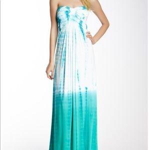 Sky tie dye maxi dress